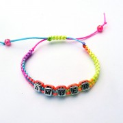 Children's Personalised Multi Colour Bracelet
