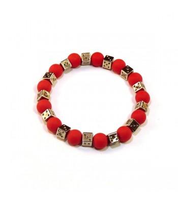 Diced Red Bracelet