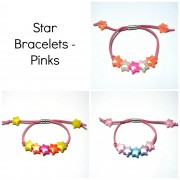 Star Bracelets - Pinks