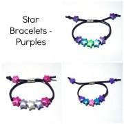 Star Bracelets - Purples