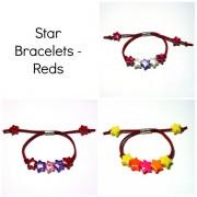 Star Bracelets - Reds