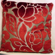 Flock Flower Cushion Cover