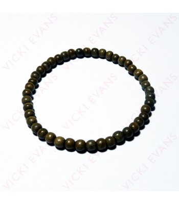 Greywood Bead Bracelet 4mm