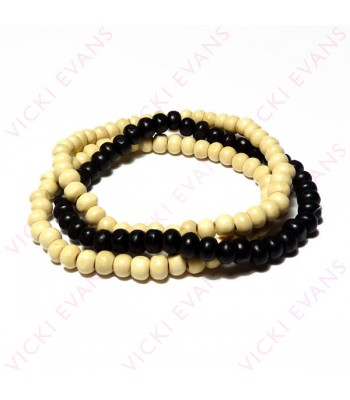 Black and White Bracelet Combo