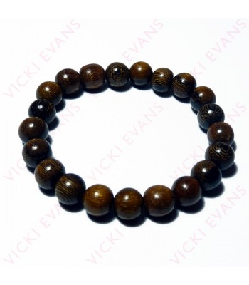 Robles Wood Bead Bracelet 10mm