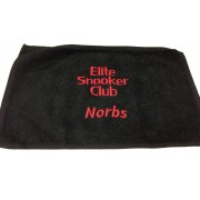 Embroidered Towel - Text Only (Snooker/Pool/Golf/Tennis)